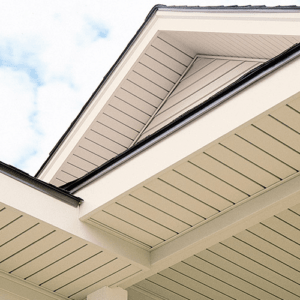 Soffit and fascia for roof finishing
